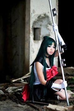Sailor Pluto Cosplay, Setsuna Meioh (Sailor Pluto) from Sailor Moon. Now thats impressive cosplay! Epic Cosplay, Amazing Cosplay, Cosplay Girls, Cosplay Costumes, Anime Cosplay, Sailor Neptune, Sailor Uranus, Sailor Mars, Sailor Pluto Cosplay