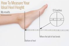 What if there were a magic number you could measure that would tell you exactly what high heel height would be your most comfortable to...
