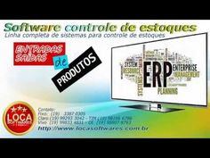 Programa cadastro de produtos controle de estoque Sistema Erp, Software, Management, How To Plan, Order Of Service, Real Estate Broker, Productivity, Products
