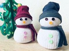 Sockenschneemann mit Kindern basteln - Weihnachtsdeko selber machen   Der Familienblog für kreative Eltern