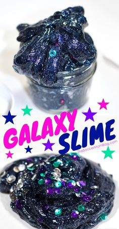 Midnight Galaxy Slime Recipe Glitter Galaxy Space Slime – it glows in the dark! More from my siteMoon Sand Space Sensory Play Recipe- Alexis YorkPrintable Outer Space Coloring Book Galaxy Slime, Outer Space Party, Outer Space Theme, Space Preschool, Space Crafts Preschool, Preschool Ideas, Glitter Slime, Glitter Crafts, Diy Slime