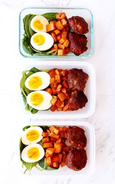 Meal Prep Breakfast Bowls- Paleo and Whole 30 - The Bettered Blondie #mealprep #paleo #whole30 #glutenfree