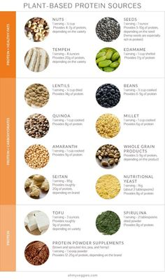 Plant-Based Protein Sources Formula for how much protein you should eat daily is included.