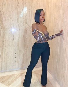 Outfit discovered by Jasmine on We Heart It Boujee Outfits, Dressy Outfits, Summer Outfits, Fashion Outfits, Ladies Outfits, Black Girl Fashion, Look Fashion, Fashion Night, Fall Fashion