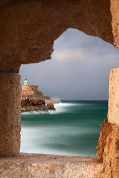 "The ""Eerie Sea"" and the fortress of Ag. Nicholas, Rhodes, Greece"