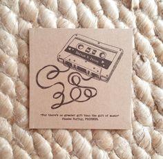 Our Wedding MIxtape Custom Kraft CD Sleeves by BrossieBelle