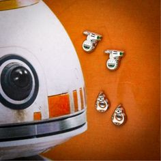 Droid fans rejoice - our adorable and enamel stud earrings are adorable, comfortable to wear, and available from Get yours today!