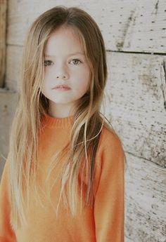 My kid.. Long hair!