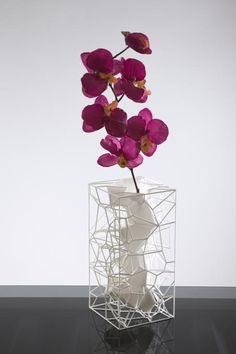 Purple orchids meet modern art