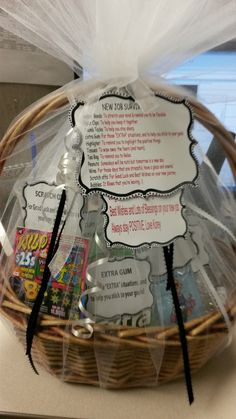 New Job Survival Kit Gift Basket