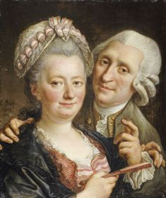 Portrait Of A Gentleman And His Wife, by Francois Guerin