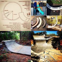 Skate and Annoy Bmx Ramps, Skateboard Ramps, Mini Ramp, Skate Ramp, Parking Design, Playgrounds, Skateboarding, Square Feet, Diy Room Decor