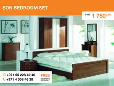 If you want to have a lightsome bedroom, fill it with the Son bedroom set. You won't even need a one year warranty, because the set produced in Poland. You will need just a desire to live and sleep in comfort.   Hurry up! Only one item left.  More details here: http://gtfshop.com/son_bedroom_set_buy_uae