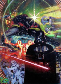 An ominous looking Darth Vader has his lightsaber ready for attack in this incredibly detailed and complex painting by artist Tommy Lee Edwards. Comic Art Community GALLERY OF COMIC ART Star Wars Books, Star Wars Art, Star Trek, Star Ears, Star Wars Games, Star Wars Wallpaper, Love Stars, Film, Comic Art