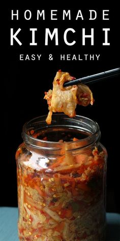 Easy Homemade Kimchi - a healthy dinner side that's low carb, gluten free & paleo | www.tasteaholics.com