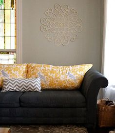 new look on painted upholstery: using winwax wood stain.... it comes in awesome colors and no need for fabric medium!: