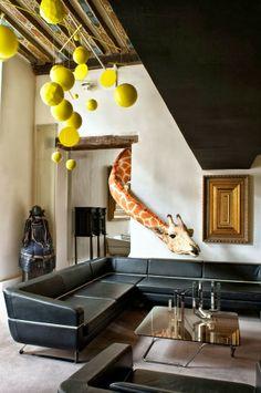 Imagine A Giraffe In Your Living Room Ora Ito Eccentric Apartment Milan Home By Artist