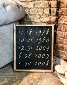 Special Dates Framed Wood Sign – 18×21  #arworkshop www.arworkshop.com