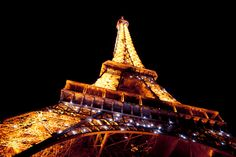 The Eiffel Tower at Night, Paris, France (honeymoon, travel, tour eiffel, romantic, holiday, icon, monument, sight) // image by HARRY-MARX.COM