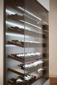 Glass Wine Cellar, Home Wine Cellars, Wine Cellar Design, Cave A Vin Design, Wine Cellar Basement, Wine Display, Wine Wall, Wine Cabinets, Wine Fridge