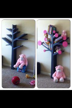 DIY Stick Tree Bookshelf
