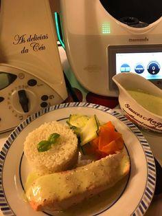 Salmão ao Vapor com Molho de Manjericão e Limão Baked Potato, Tacos, Potatoes, Baking, Ethnic Recipes, Food, Mustard Dressing, New Recipes, Top Recipes