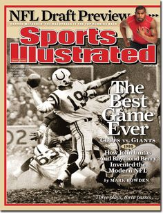 Sports Illustrated - Best game Ever - Colts vs Giants - April 28, 2008 | Volume 108, Issue 17