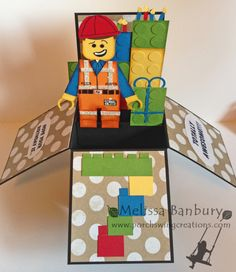 Lego Movie Card in a Box by Melissa Banbury (Sask. Canada)