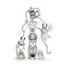 The Forest Circus critters via DELLEMYR. Click on the image to see more!