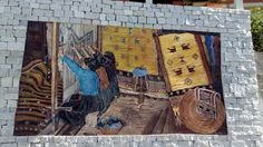 Sa burra di Sarule Donne al telaio verticale, murale di Pina Monne