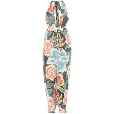 Mara Hoffman Printed Jumpsuit (550 AUD) ❤ liked on Polyvore featuring jumpsuits, multicoloured, colorful jumpsuit, multi colored jumpsuit, multi color jumpsuit, mara hoffman and jump suit