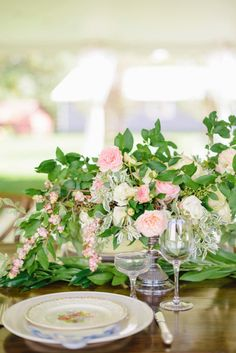 A Vintage Inspired Garden Centerpiece // See more: http://theeld.com/1z9rq7H