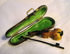 Limoges France Violin with case & bow.