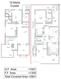 62 Lovely Of 10 Marla House Design Image. House Designs Pakistan 10 Marla Home Deco Plans Duplex House Plans, House Layout Plans, Bungalow House Plans, Small House Plans, House Layouts, House Floor Plans, Home Map Design, Home Design Plans, Bluebird House Plans