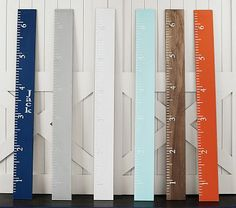 Easy to recreate Personalized Growth Charts, MDF cut into strips, paint/stain & measure. A must do ~ Inspiration pbkids