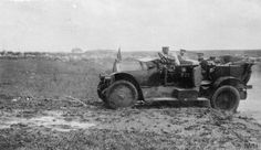 An officer of the British Military Mission to South Russia by his Fiat staff car (serial number 273), summer 1919. Photograph taken during a tour of the White Russian Don Army units with General Sidorin, the Commander of the Army