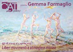 Gemma Formaglio inaugura la personale Liberi movimenti e atmosfere marine sabato 18 marzo 2017  CAT Gallery Udine