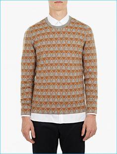 Lanvin Grey Jacquard Sweater