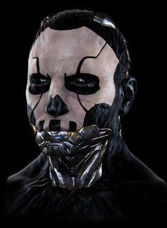 Cyborg variant 2 by mojette, future, cyberpunk, futuristic, android, cyber makeup, dystopia, robot: