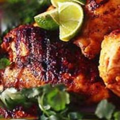 El Pollo (Chicken) Asado. Chicken marinated in lemon, lime, and orange juices and olive oil