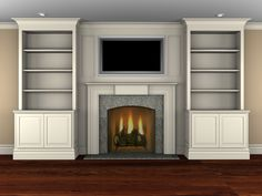 Entertainment center wall unit with fireplace entertainment unit fireplace wall units amusing regarding white brilliant center . New Homes, Fireplace Entertainment Center, Bookshelves Built In, Built In Media Center, Home, Family Room, Fireplace Surrounds, Fireplace Built Ins, Fireplace Bookshelves