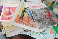 Check out the list of online printmaking workshops and mixed media classes offered by Linda Germain. Get into the studio and expand your printmaking skill