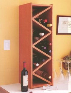 Make your own wine rack - full plans, cut list & lots of pics via Start Woodworking