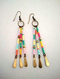 Southwest Dangle Earrings, Etsy by wanting