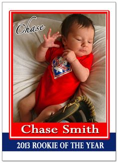 Rookie of the Year Birth Announcement http://www.customsportscards.com/select.cfm/Custom-Trading-Cards/Birth-Announcements/