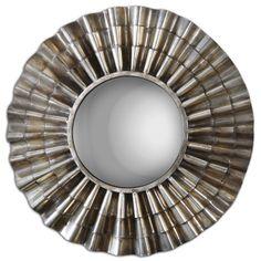 Scalloped Metal Convex Mirror | Scenario Home