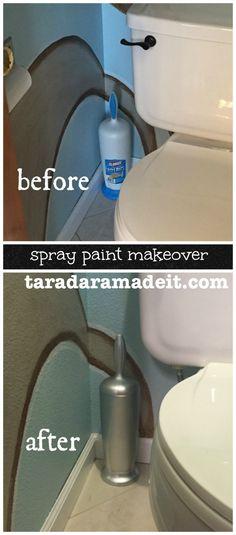 Spray paint makeover - bathroom update