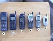 Evolution of cell phones in 1990s