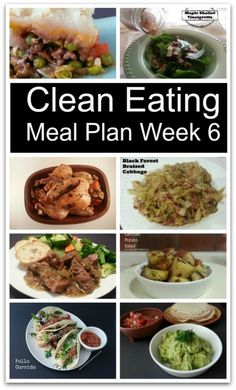 Clean Eating Meal Plan 6 from Little Family Adventure