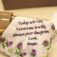 Today a bride Tomorrow a wife Always your daughter....